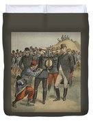 With The Army Manoeuvres The Duke Duvet Cover