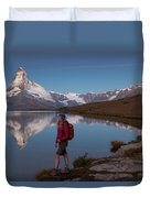 With The Matterhorn In The Background Duvet Cover