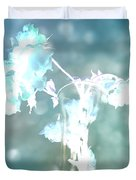 Withering Away - Aqua Sparkle Duvet Cover