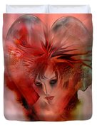 Within A Glass Heart Duvet Cover