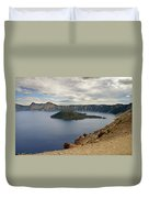 Wizard Island - Crater Lake Oregon Duvet Cover by Christine Till