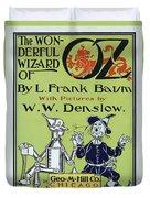 Wizard Of Oz Book Cover  1900 Duvet Cover