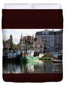 Wladyslawowo And Gdynia In Gdansk Harbor Duvet Cover