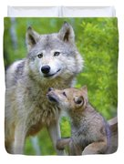 Wolf Of Minnesota Duvet Cover
