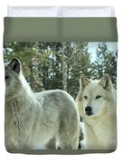 Wolf Gaze Duvet Cover