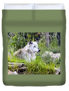 Wolf In The Grass Duvet Cover