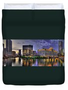 Wolf Point Panorama Duvet Cover
