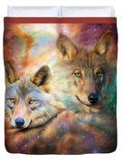 Wolf - Spirit Of The Universe Duvet Cover