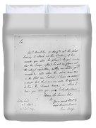 Wolfe Letter, 1759 Duvet Cover