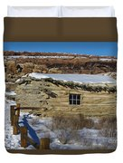 Wolfe Ranch Cabin Arches National Park Utah Duvet Cover