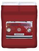 Wolkswagen Combi Red Duvet Cover
