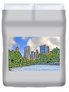 Wollman Rink In Central Park Duvet Cover