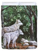 Wolves In South Dakota Duvet Cover