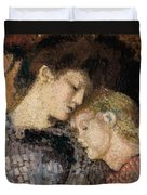 Woman And Child Duvet Cover