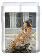 Woman Bathing 2013 Duvet Cover