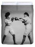 Woman Boxing Duvet Cover