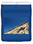 Woman Climbing Stairs Duvet Cover