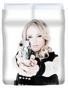 Woman Defense Duvet Cover