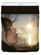 Woman Exhalation Duvet Cover