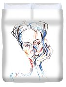 Woman Expression Duvet Cover