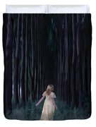 Woman In Forest Duvet Cover by Joana Kruse