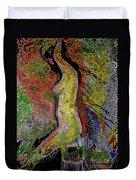 Woman In Glow Duvet Cover