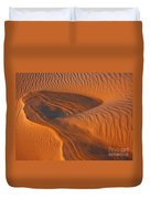 Woman In The Dunes Duvet Cover