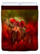 Woman In The Poppy Hat Duvet Cover