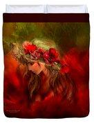 Woman In The Poppy Hat Duvet Cover