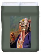 Akha Hill Tribe Woman  Thailand Duvet Cover