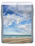 Woman On Manly Beach In Sydney Australia Duvet Cover