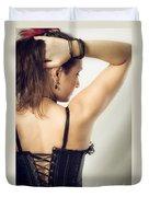 Woman Portrait Duvet Cover