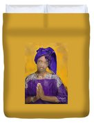 Woman Praying Duvet Cover