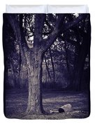 Woman Under A Tree Duvet Cover