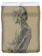 Woman Standing Duvet Cover