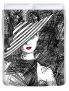 Woman With A Hat Duvet Cover