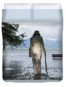 Woman With A Stick Duvet Cover