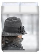 Woman With Hat Duvet Cover