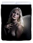 Woman With Nude Breast In Chair 1286.03 Duvet Cover