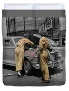 Women Auto Mechanics Duvet Cover