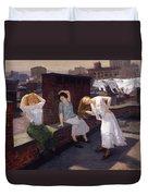 Women Drying Their Hair 1912 Duvet Cover