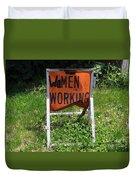 Women Working Duvet Cover