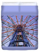 Wonder Wheel 2013 - Coney Island - Brooklyn - New York Duvet Cover