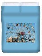 Wonder Wheel Of Coney Island Duvet Cover