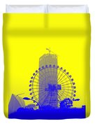 Wonderwheel In Blue And Yellow Duvet Cover