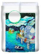Woobies Character Baby Art Colorful Whimsical Design By Romi Neilson Duvet Cover