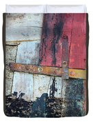 Wood And Metal Abstract Duvet Cover by Jill Battaglia