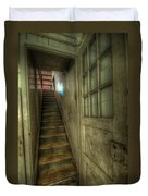 Wood Door And Stairs Duvet Cover