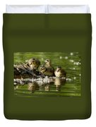 Wood Duck Babies Duvet Cover