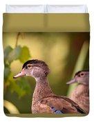 Wood Duck Close Up 1 Duvet Cover